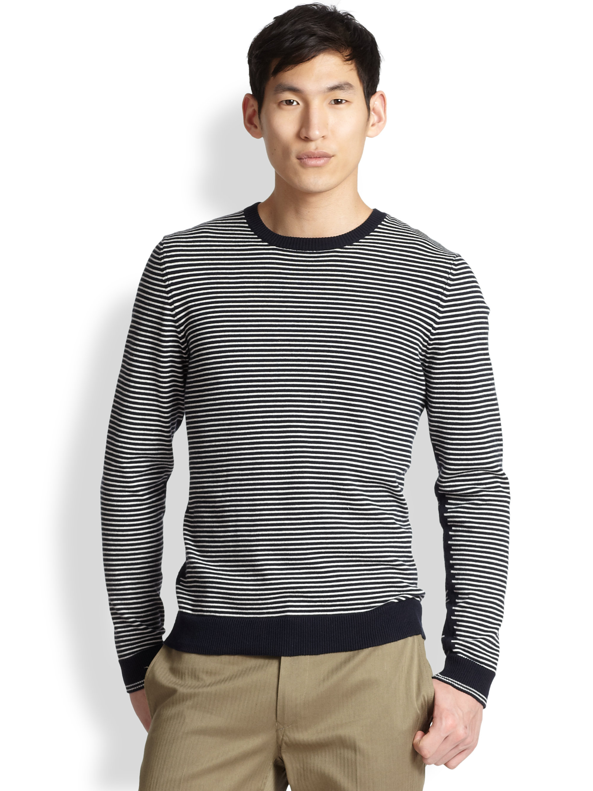 Lyst Rag Bone Jayden Stripe Sweater In Blue For Men