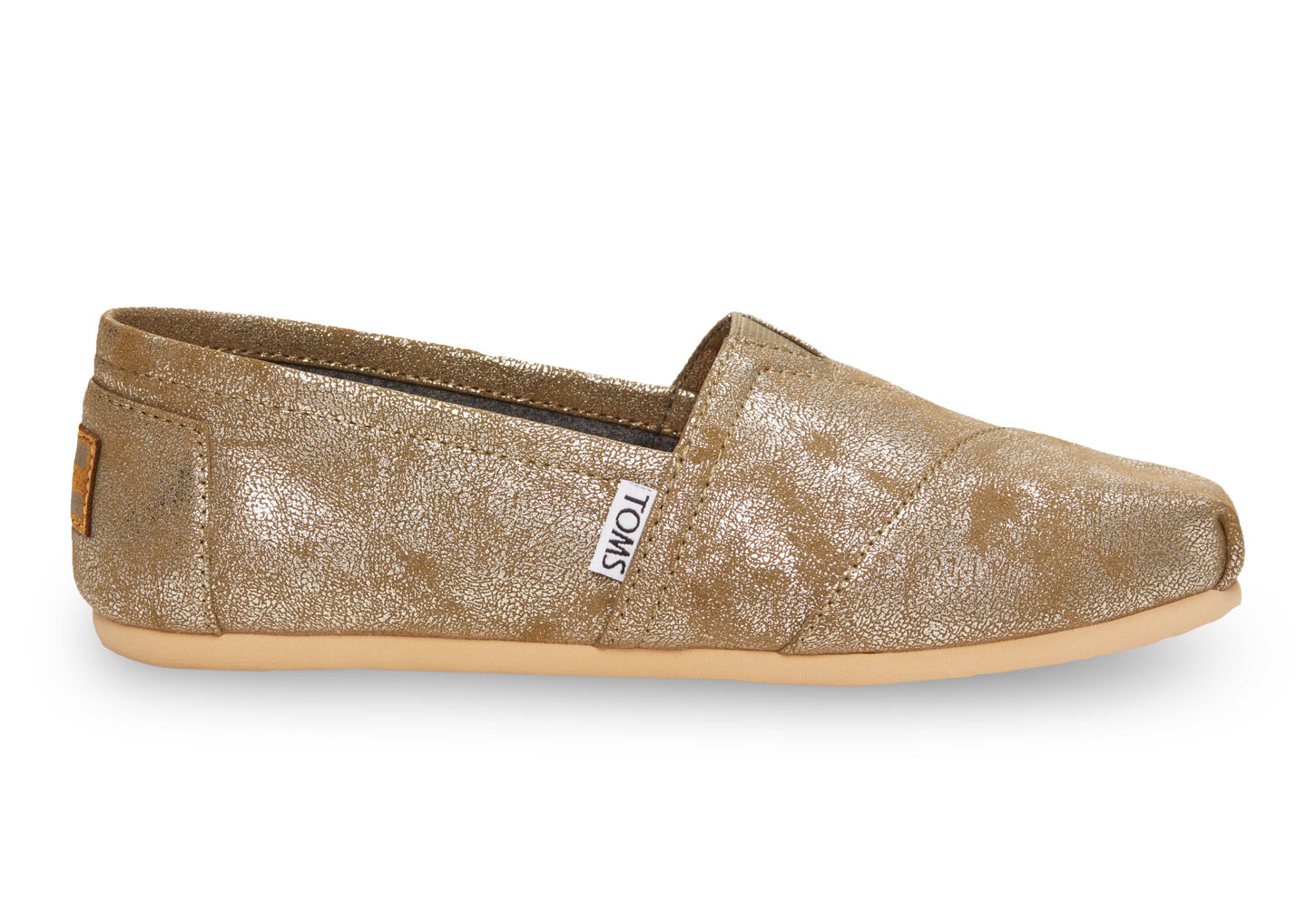 b4fc1596e2f Lyst - TOMS Brass Metallic Synthetic Leather Women s Classics in ...