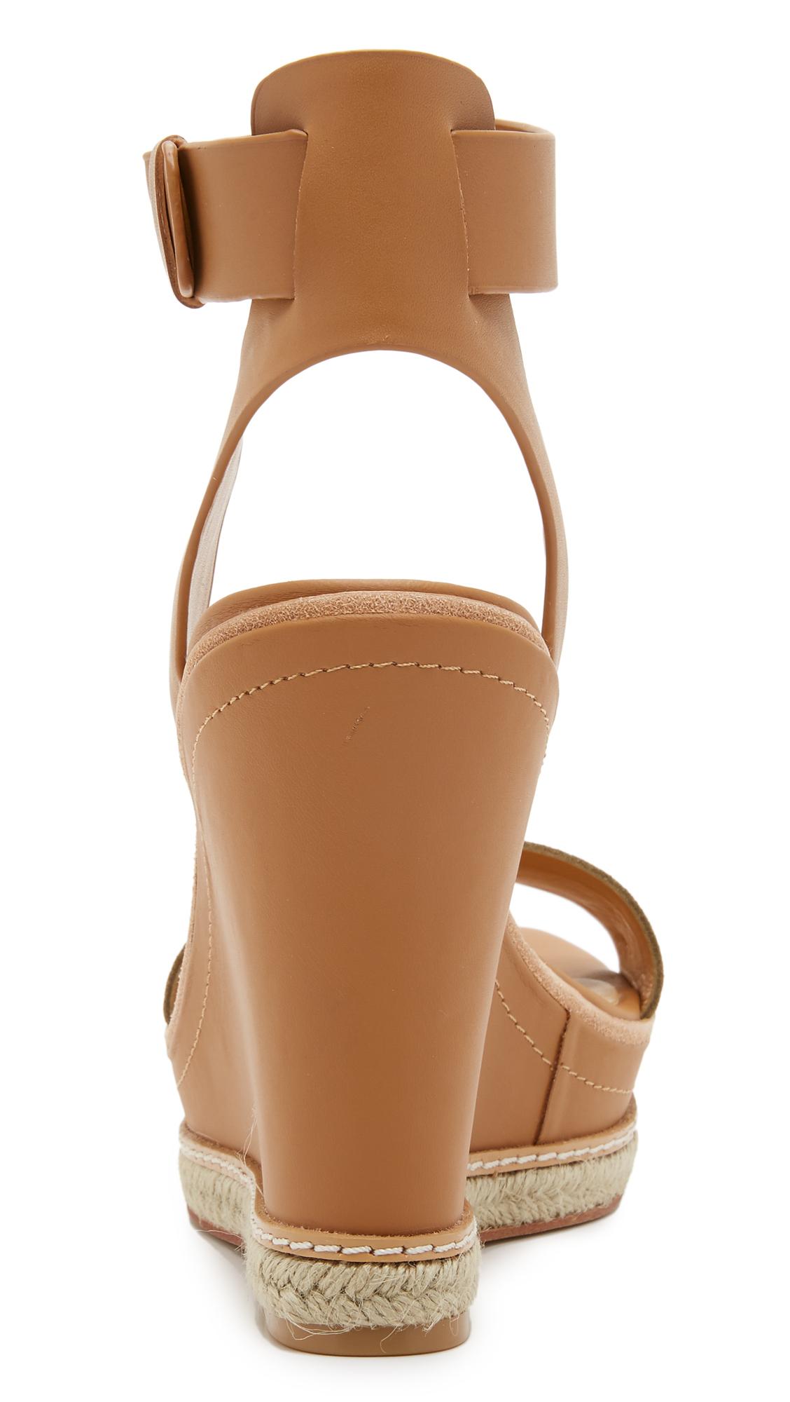 99415555496 Lyst - Dolce Vita Heath Wedge Sandals in Natural
