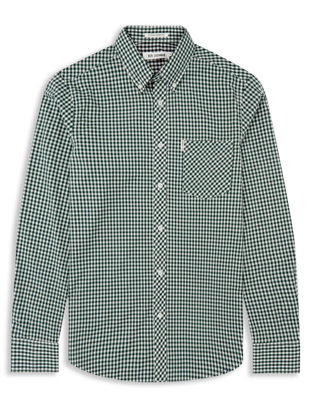 Ben Sherman Classic Gingham Check Long Sleeve Shirt In