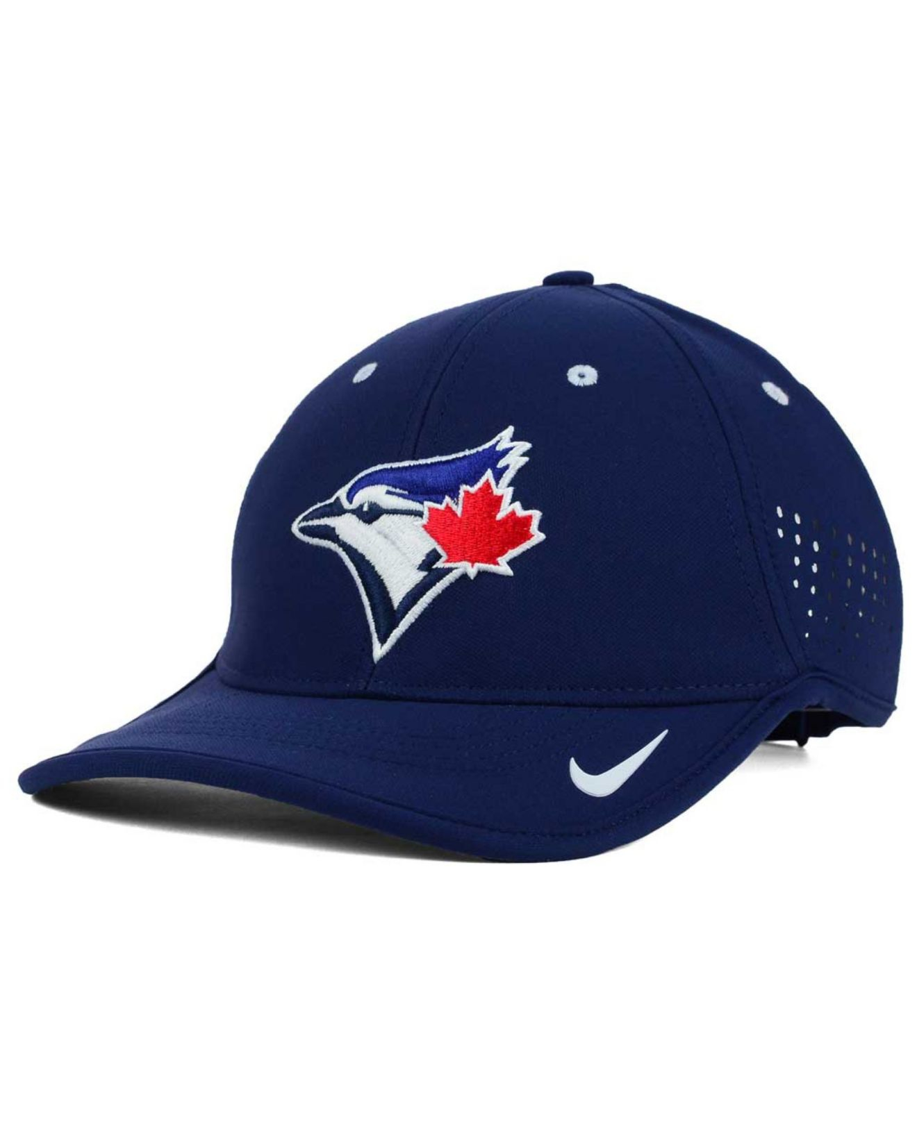 142ec44fef8 ... canada lyst nike toronto blue jays vapor swoosh adjustable cap in red  for men 96ba1 a32be
