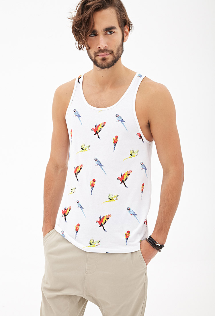 34399d893e042 Lyst - Forever 21 Parrot Print Tank Top You ve Been Added To The ...