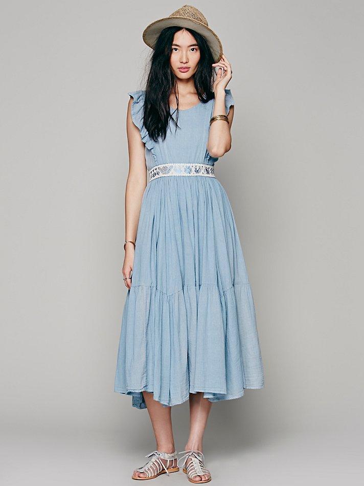 Carolina k Womens Miles On My Heart Dress in Blue | Lyst
