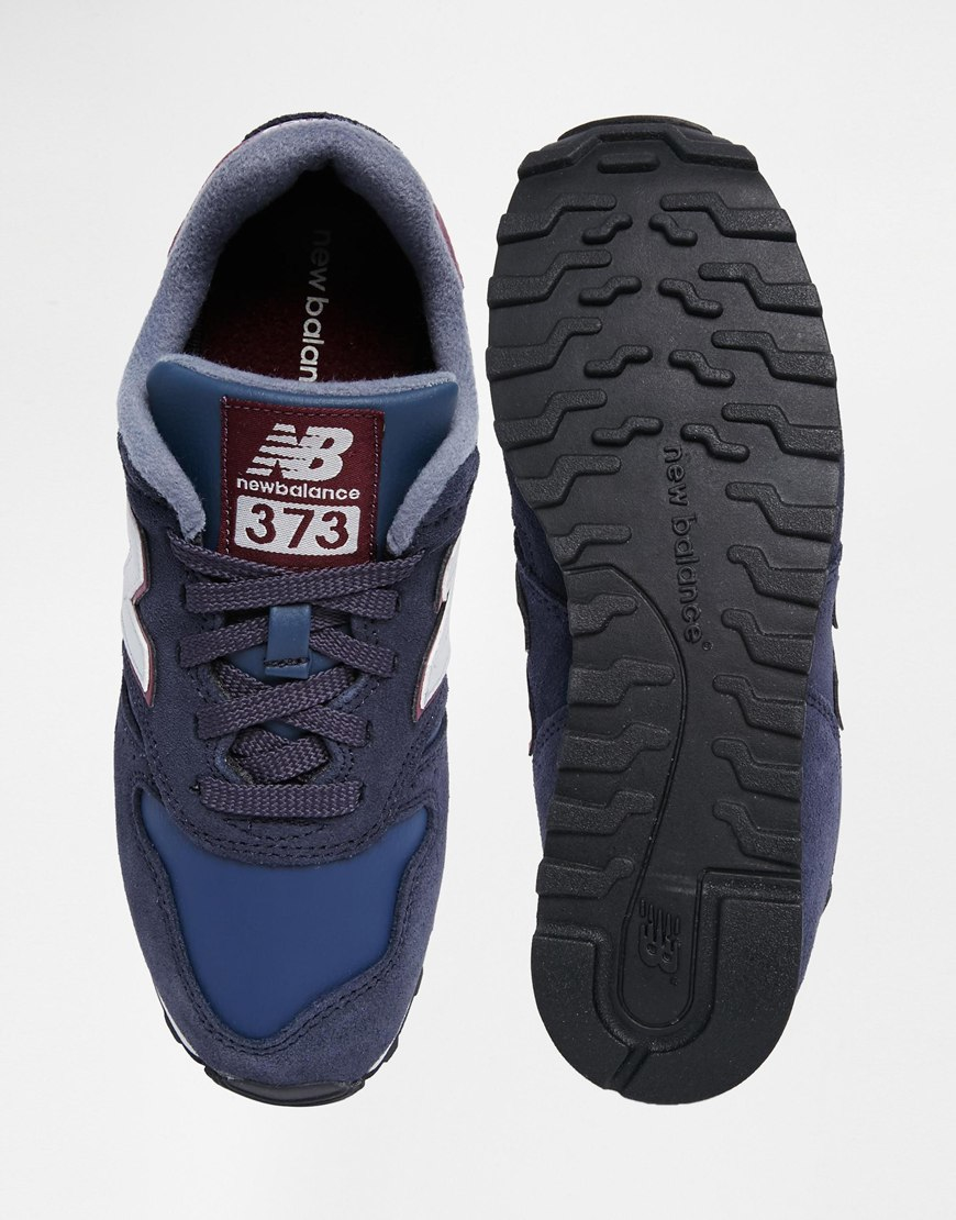 new balance 373 womens trainers in navy blue