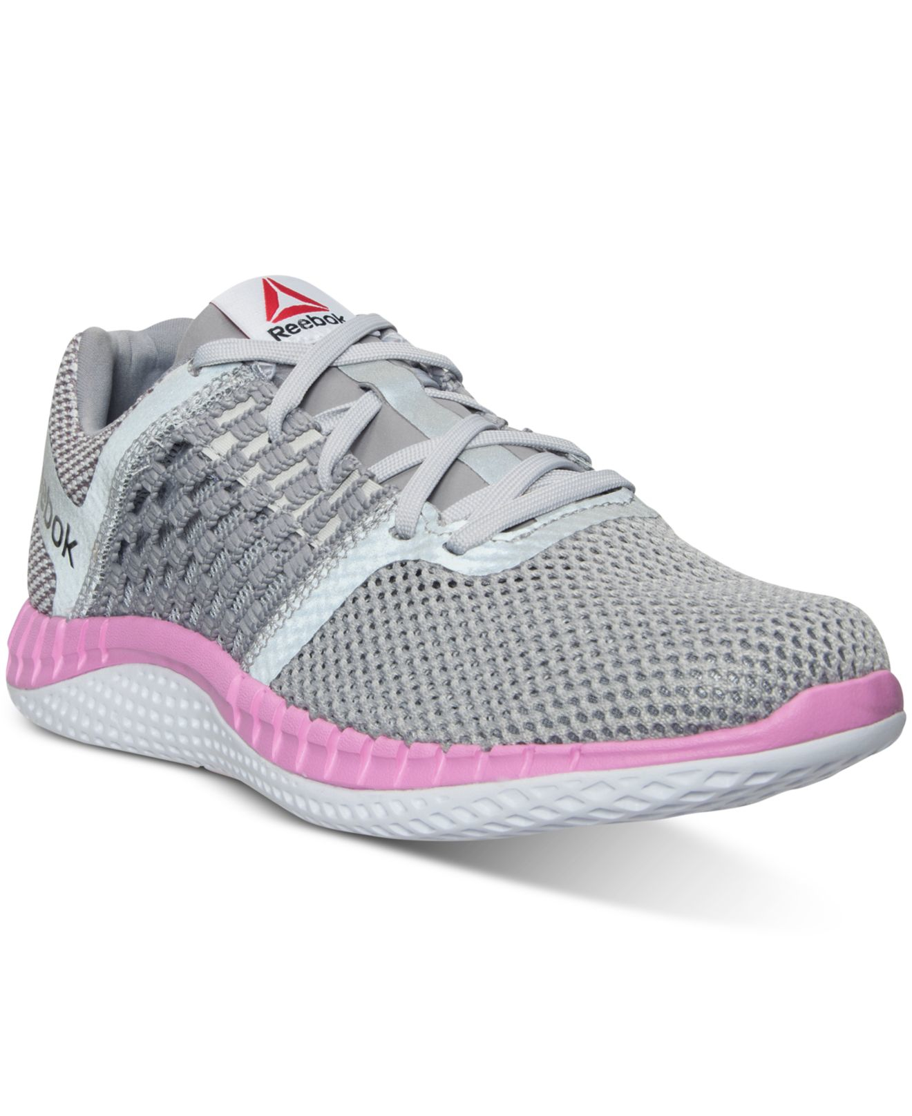 Lyst - Reebok Women s Zprint Running Sneakers From Finish Line in Pink 0c6575c77