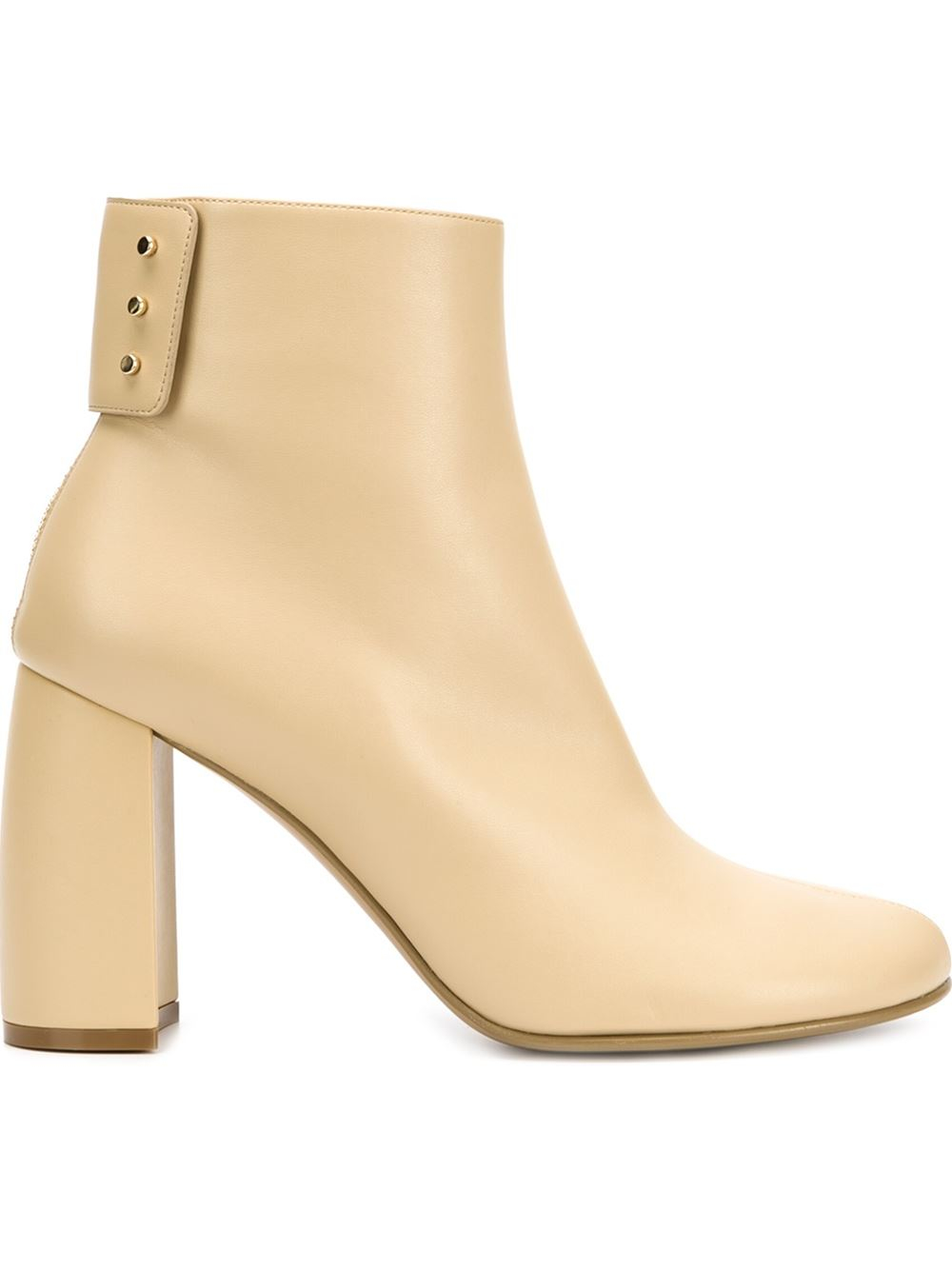 Stella mccartney Winter Show Faux-Leather Boots in Beige (nude ...