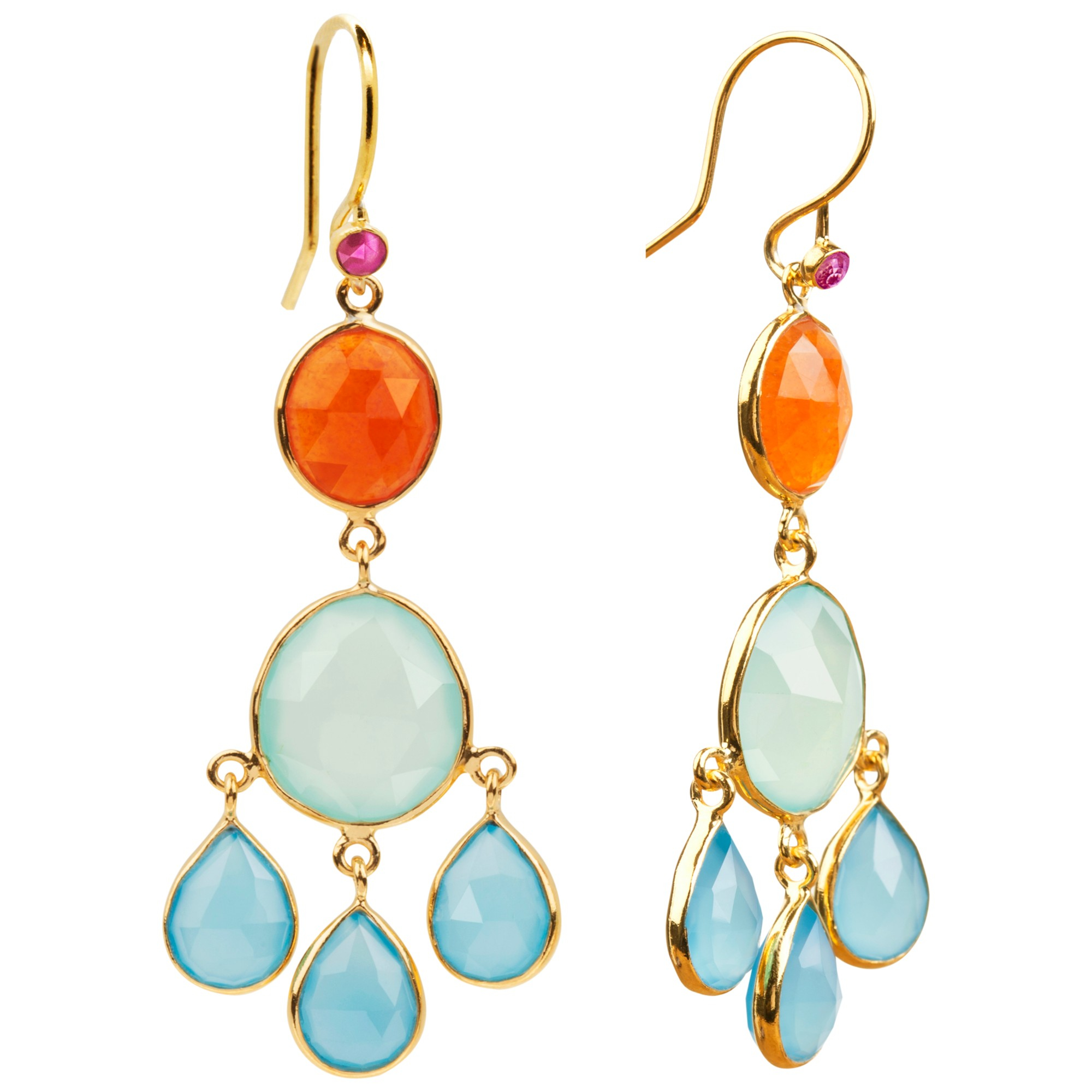 gold drop blue multicolor women gemstone topaz briolette pin earrings amethyst s