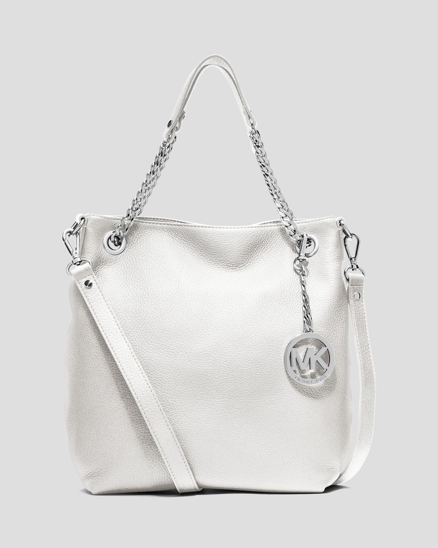 97a039a06451 Lyst - MICHAEL Michael Kors Shoulder Bag Jet Set Chain Medium in White