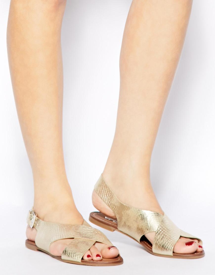 Flat sandals - Gallery Women S Gold Sandals