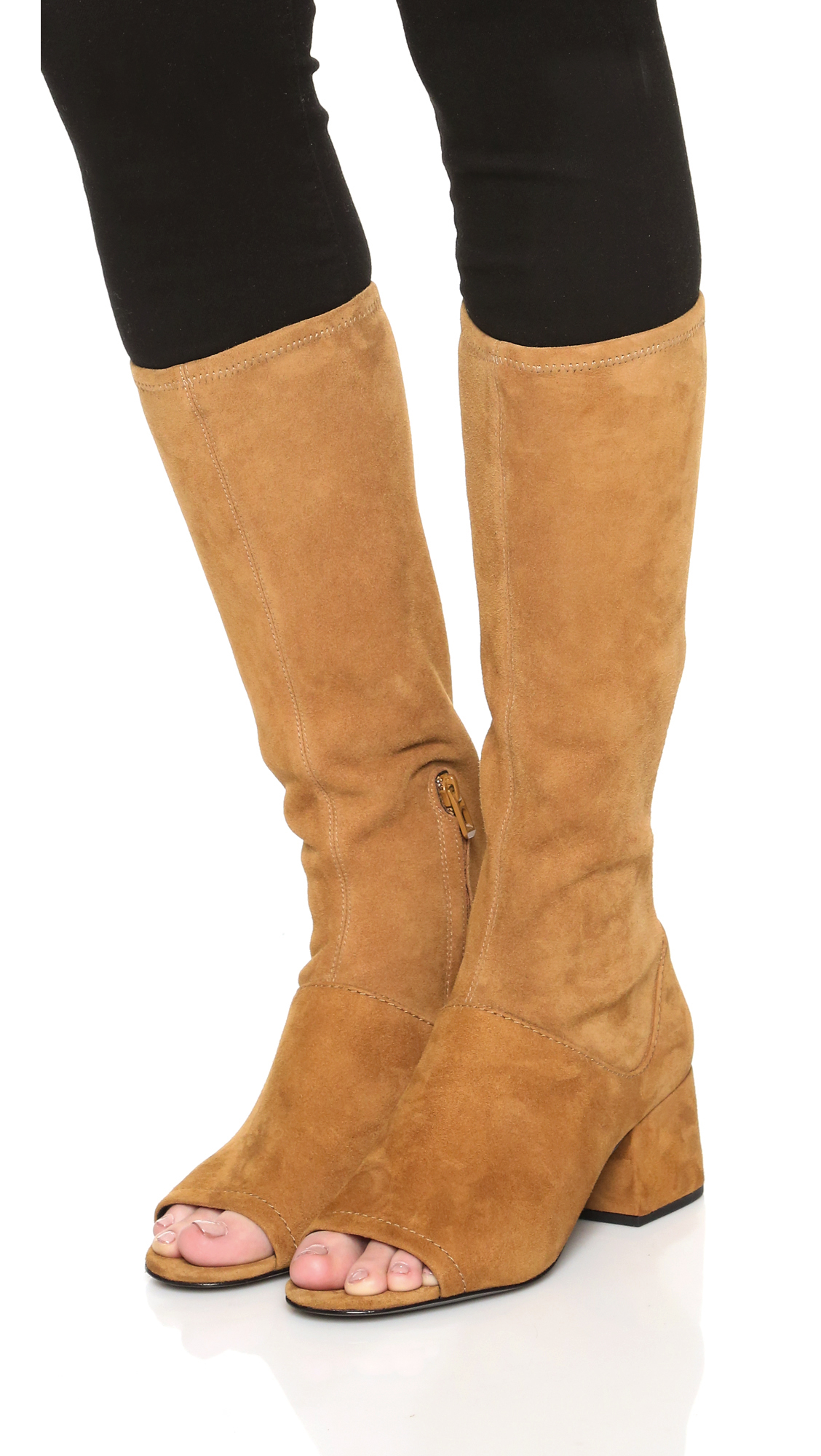 3 1 Phillip Lim Cube Open Toe Tall Boots In Brown Lyst