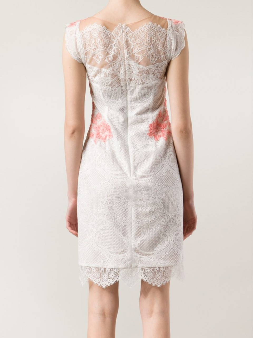 Lyst notte by marchesa embroidered lace detail dress in