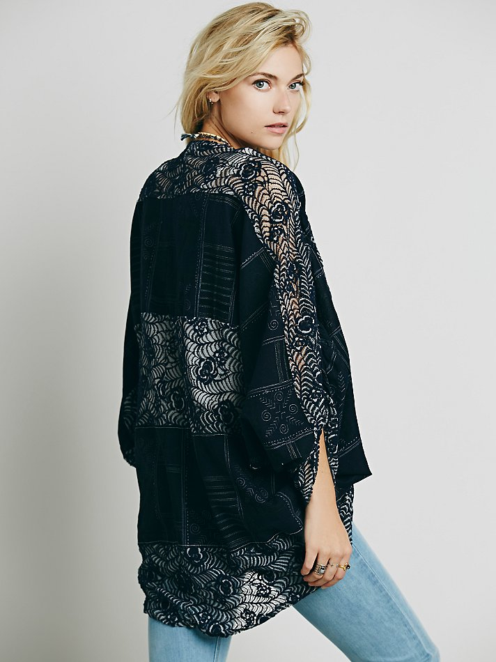 Free People Eis For Womens Persian Tile Lace Kimono In