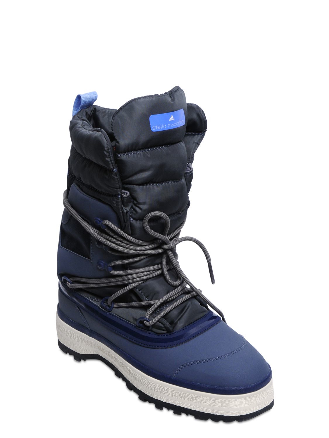 Lyst - Adidas by stella mccartney Winter Quilted Nylon Snow Boots ... : adidas quilted boots - Adamdwight.com