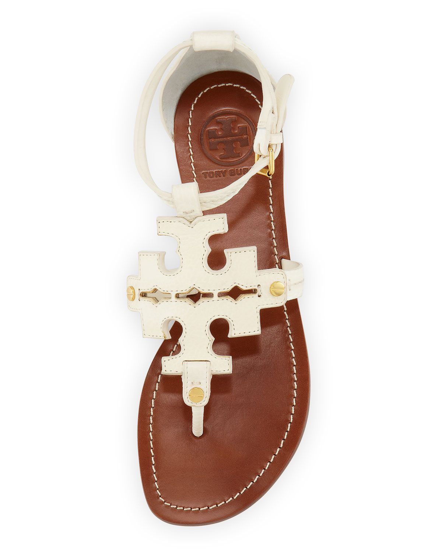 32f4f3f92 ... promo code for tory burch phoebe logo thong sandal ivory in white lyst  9f6cb 1e8c3