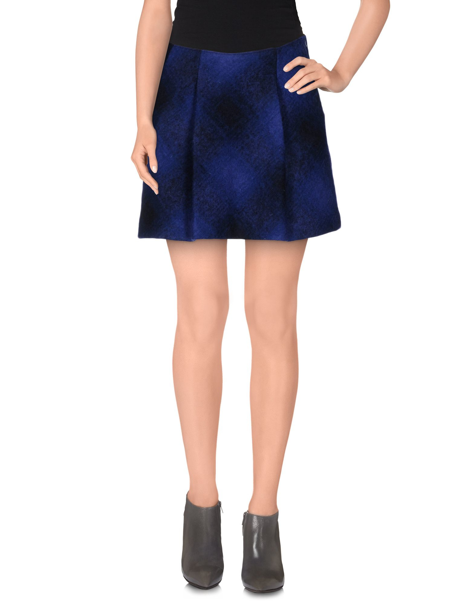 miss sixty mini skirt in blue lyst