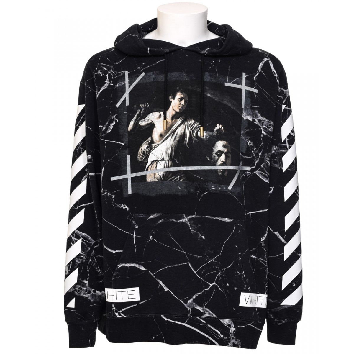 Off White Marble : Off white c o virgil abloh black marble hoodie in