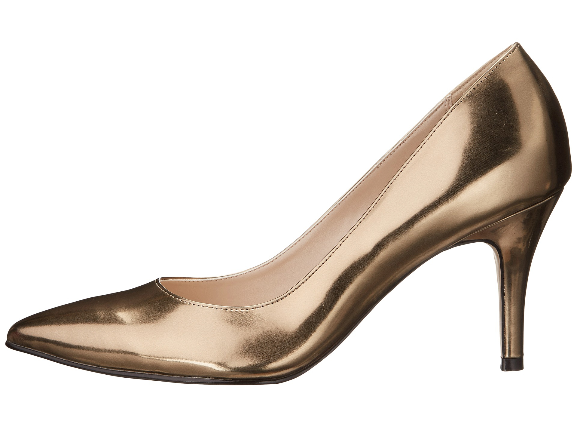 Womens Shoes Cole Haan Juliana Pump 75 Gold Metallic
