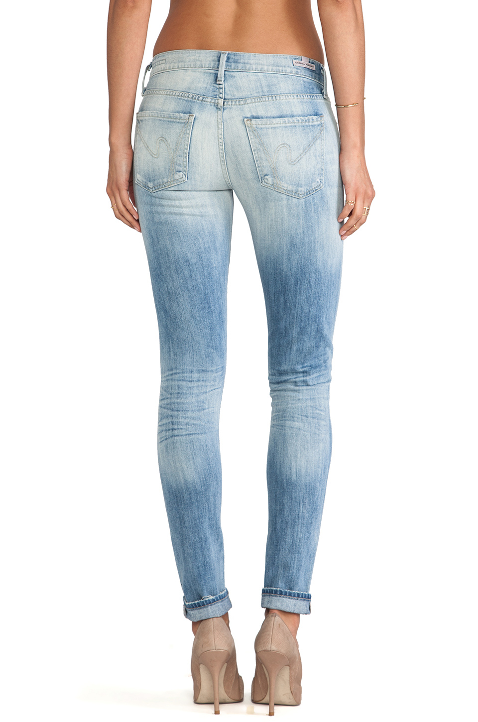 Citizens of humanity Avedon Ultra Skinny in Blue (Fade) | Lyst