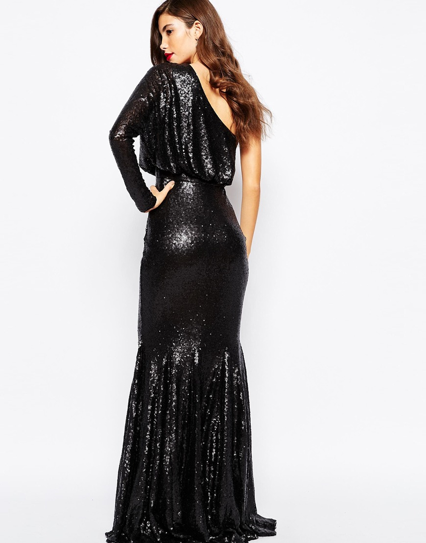 Lyst Forever Unique Tempest Sequin Maxi Dress In Black