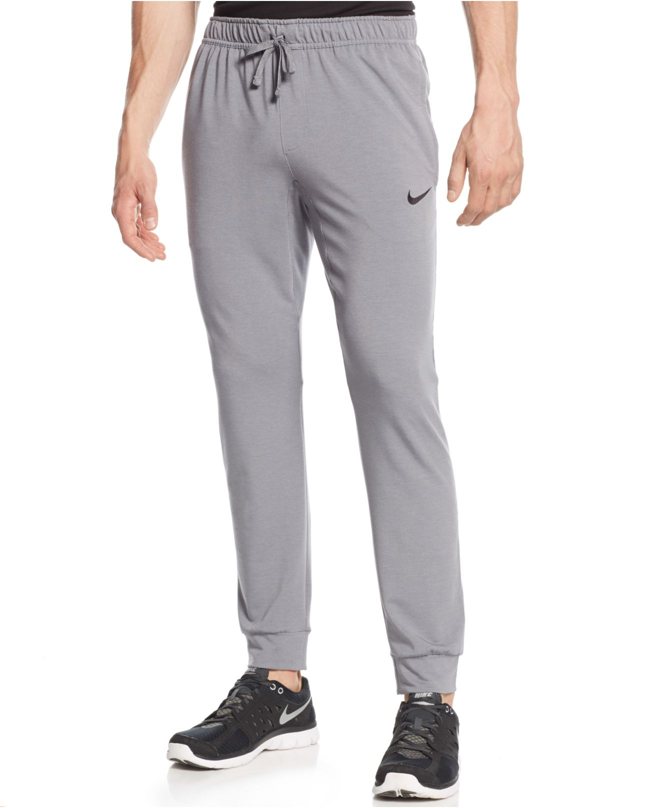 8cf96a5a7a05 Lyst - Nike Dri-fit Touch Fleece Joggers in Gray for Men