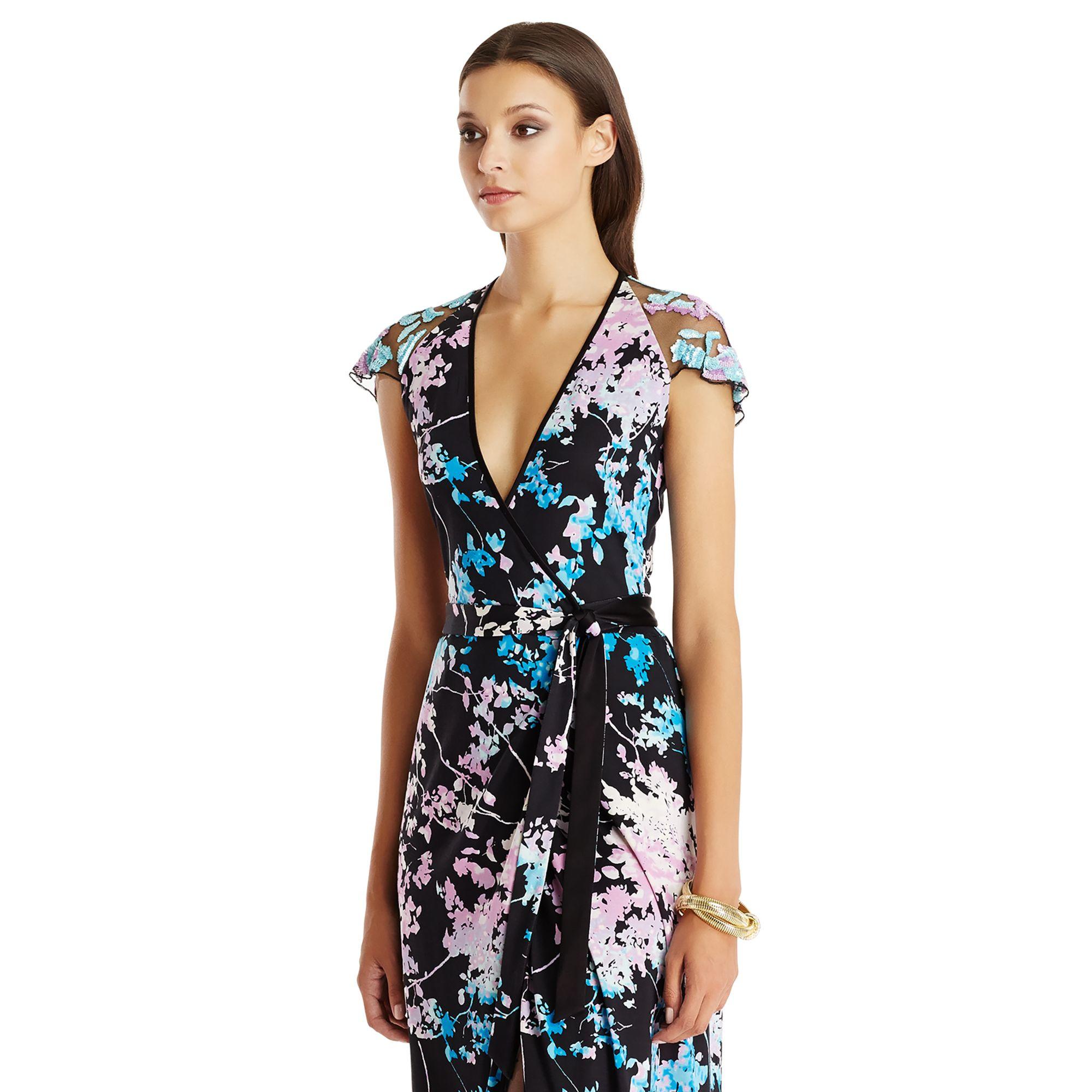 Lyst - Diane Von Furstenberg Dvf V Embellished Wrap Gown