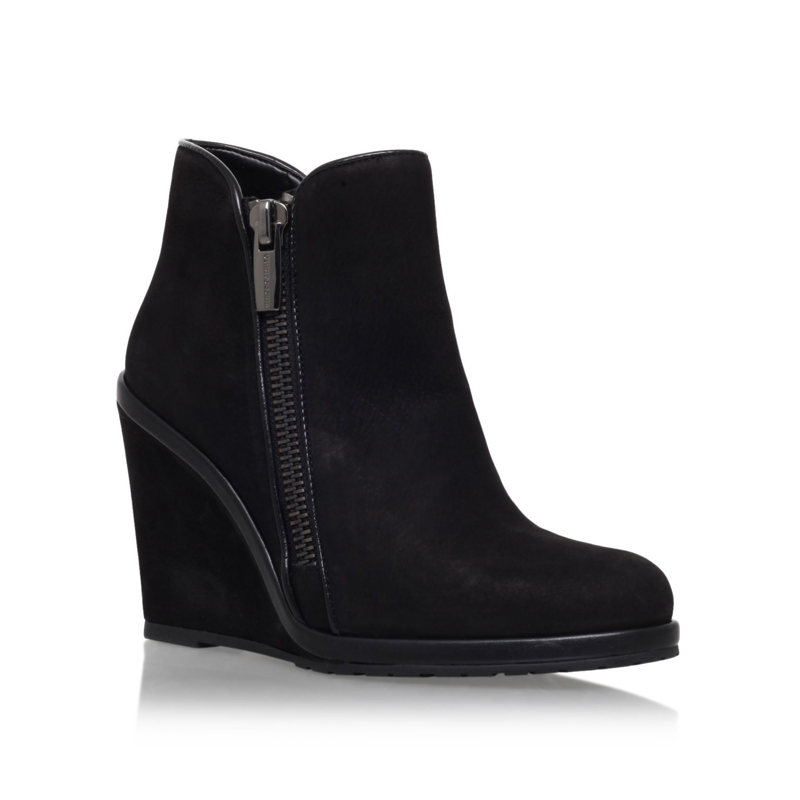 Vince camuto Jeffers Wedge Heel Ankle Boots in Black | Lyst
