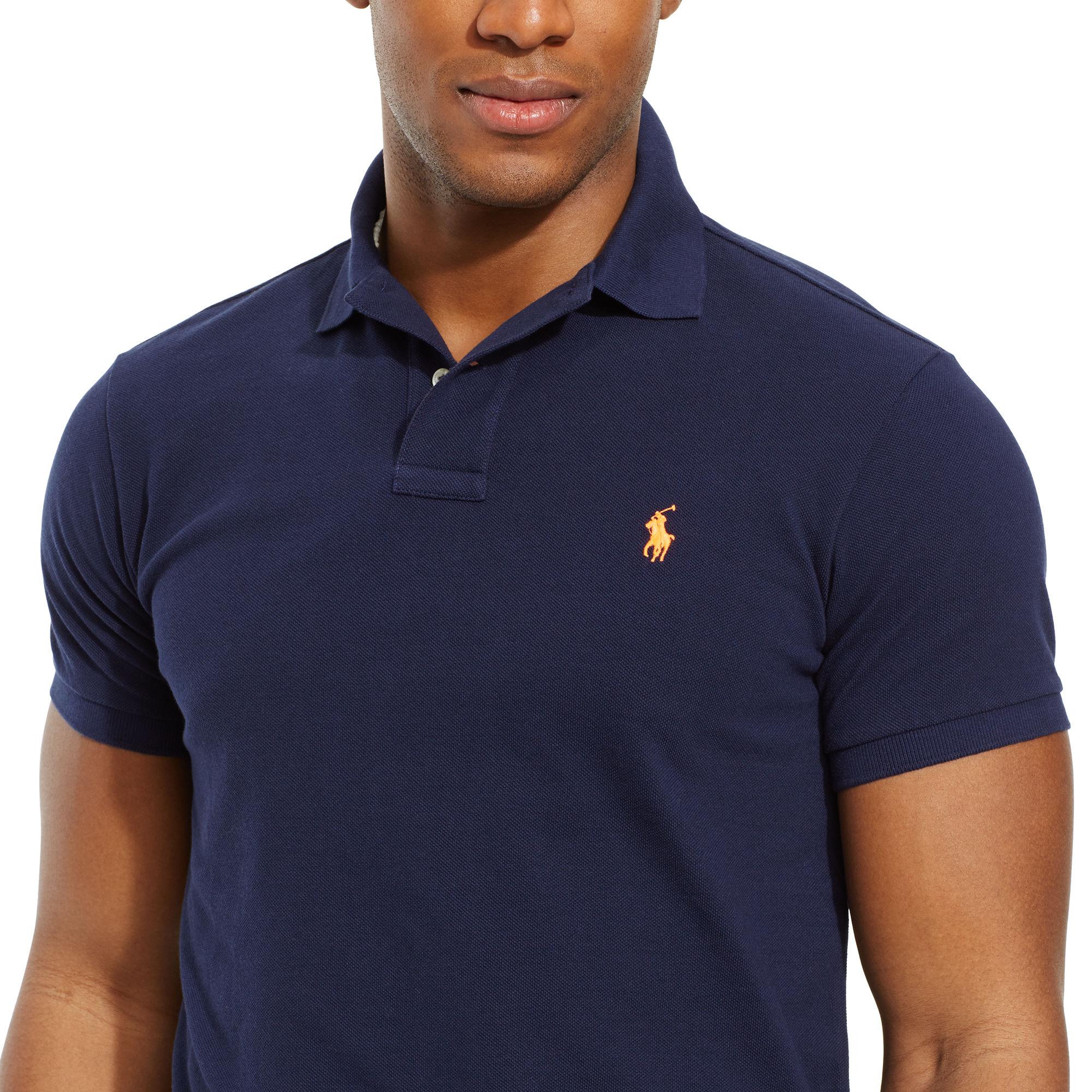 Polo Ralph Lauren Open Collar Polo Shirt in French (Blue