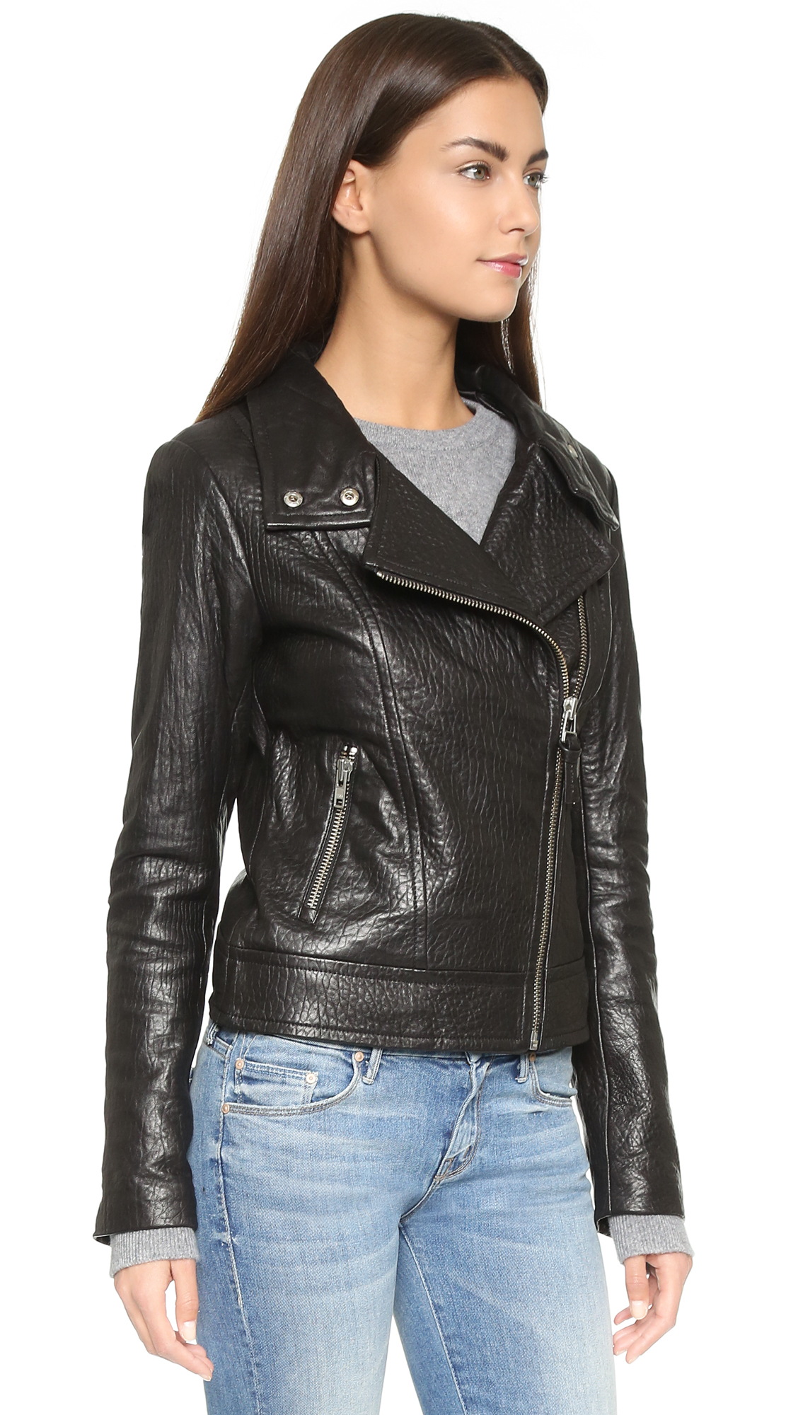 Lyst Mackage Lisa Leather Jacket In Black