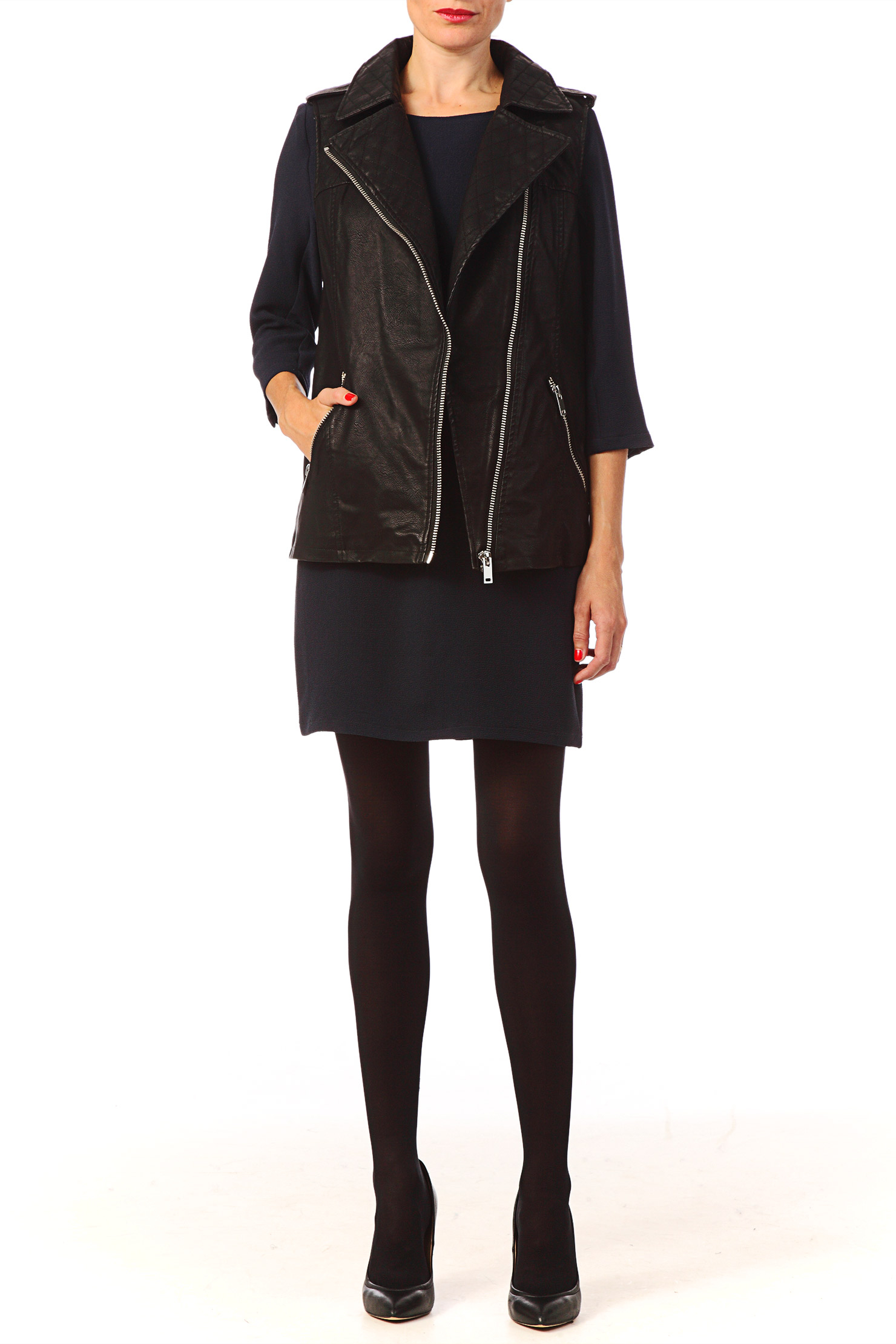 Vero Moda Quilted Bomber Jacket In Black Lyst