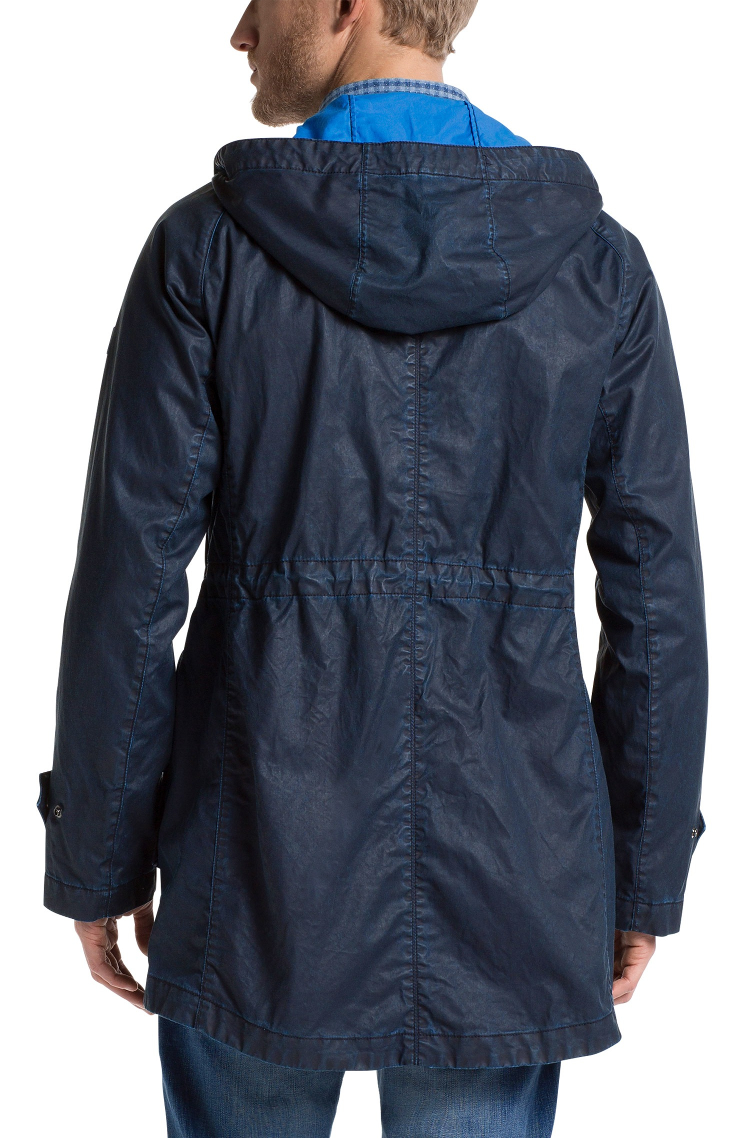 Boss orange 'Ocobra-W' | Cotton Coated Parka With Hood in Blue for ...