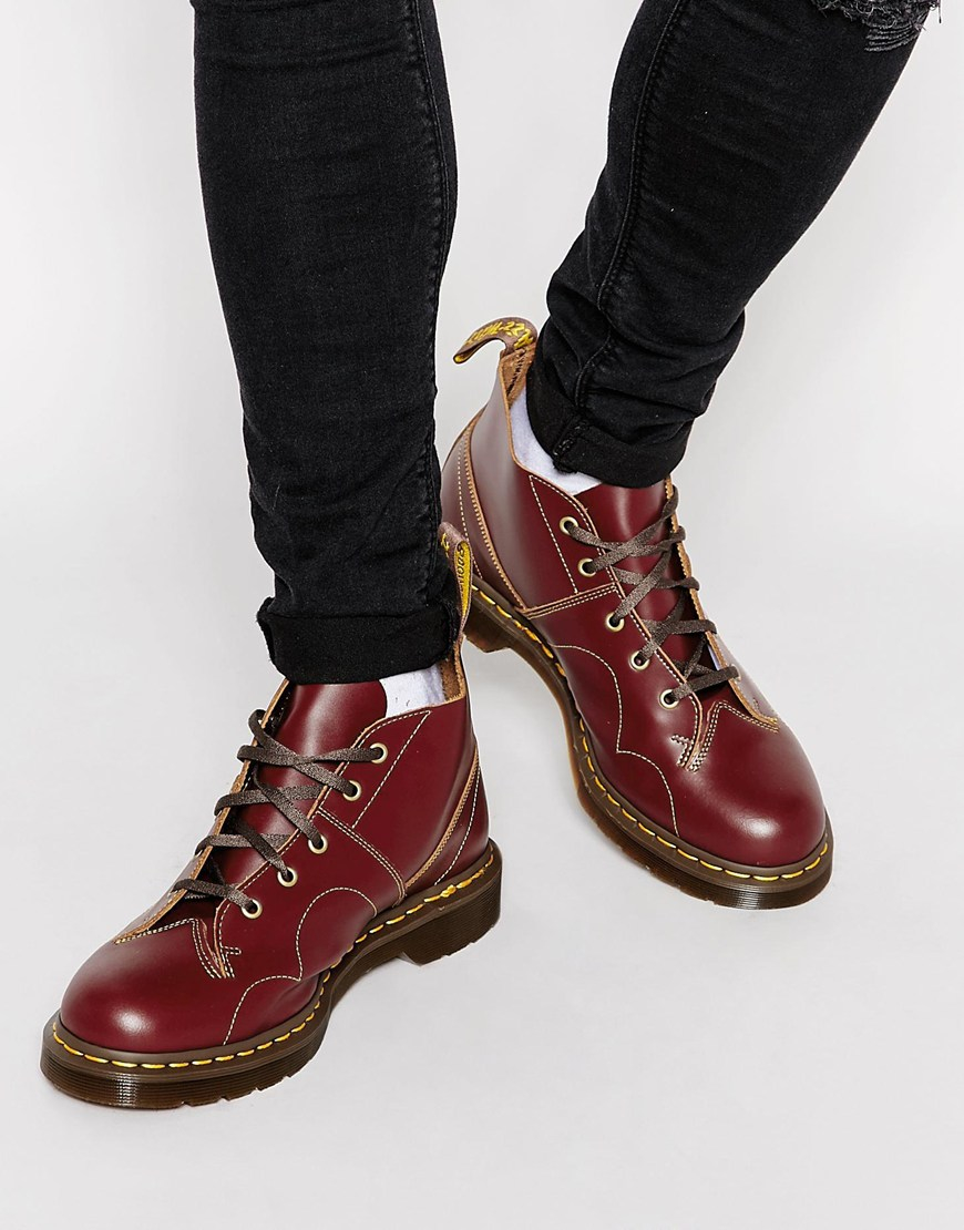 Dr Martens Church Monkey Lace up Boots In Black tumblr cheap price clearance limited edition cheap sale footaction DuG7sD