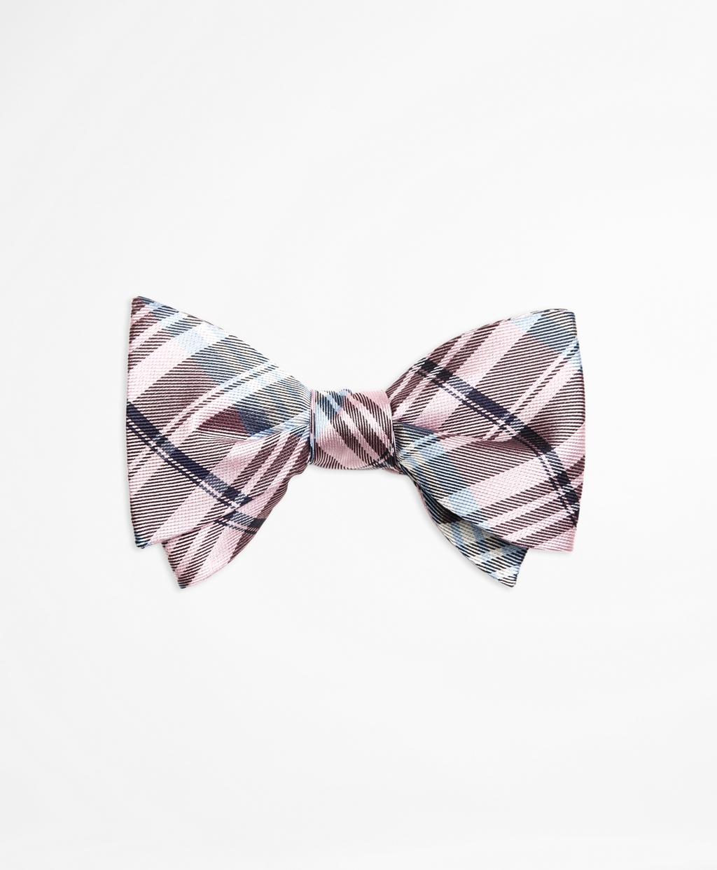 Brooks brothers Plaid Bow Tie in Pink for Men | Lyst