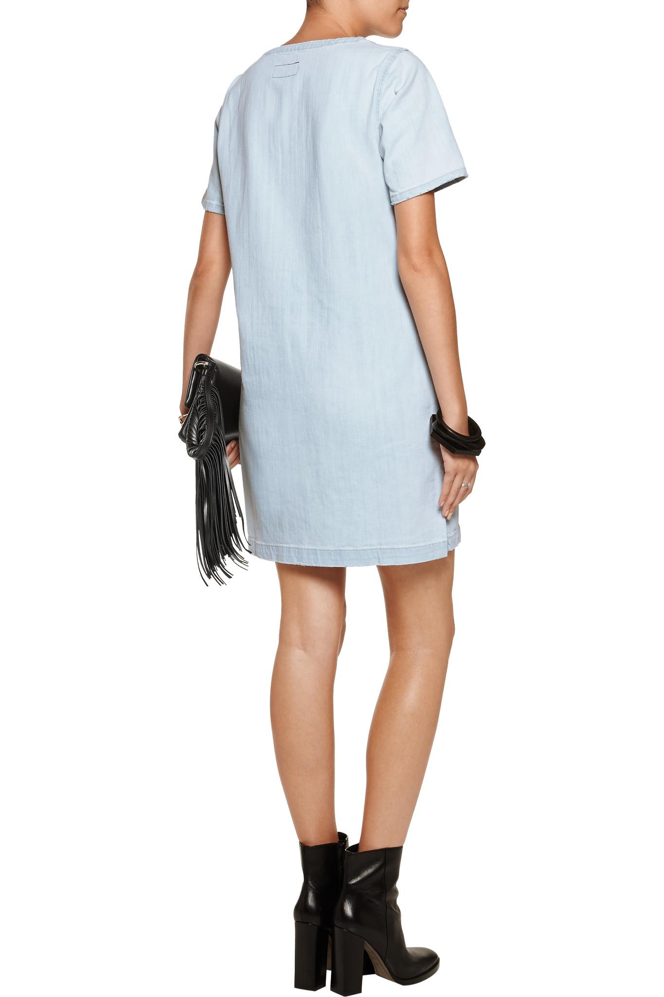 Current Elliott Denim Mini Dress in Blue - Lyst 4c6c467fd