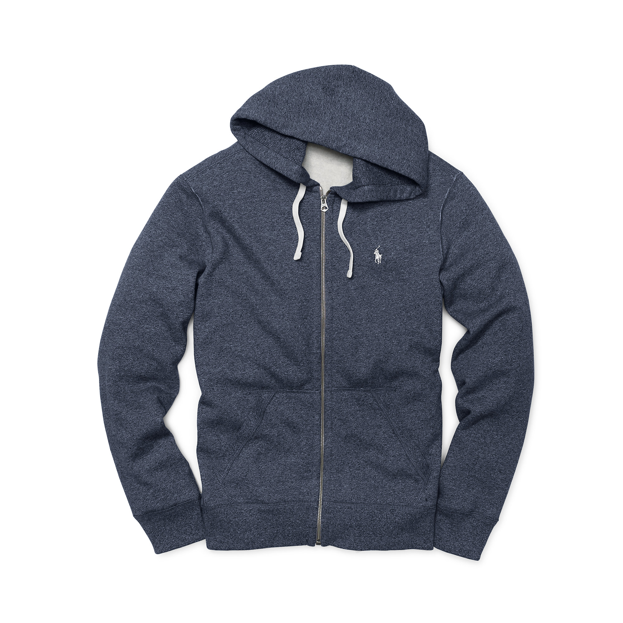 lyst polo ralph lauren fleece full zip hoodie in blue for men. Black Bedroom Furniture Sets. Home Design Ideas
