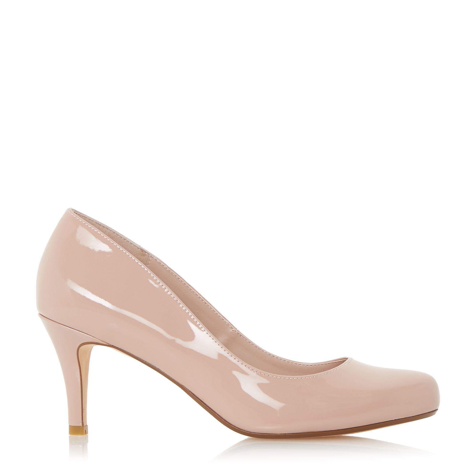 Pink Mid Heel Court Shoes