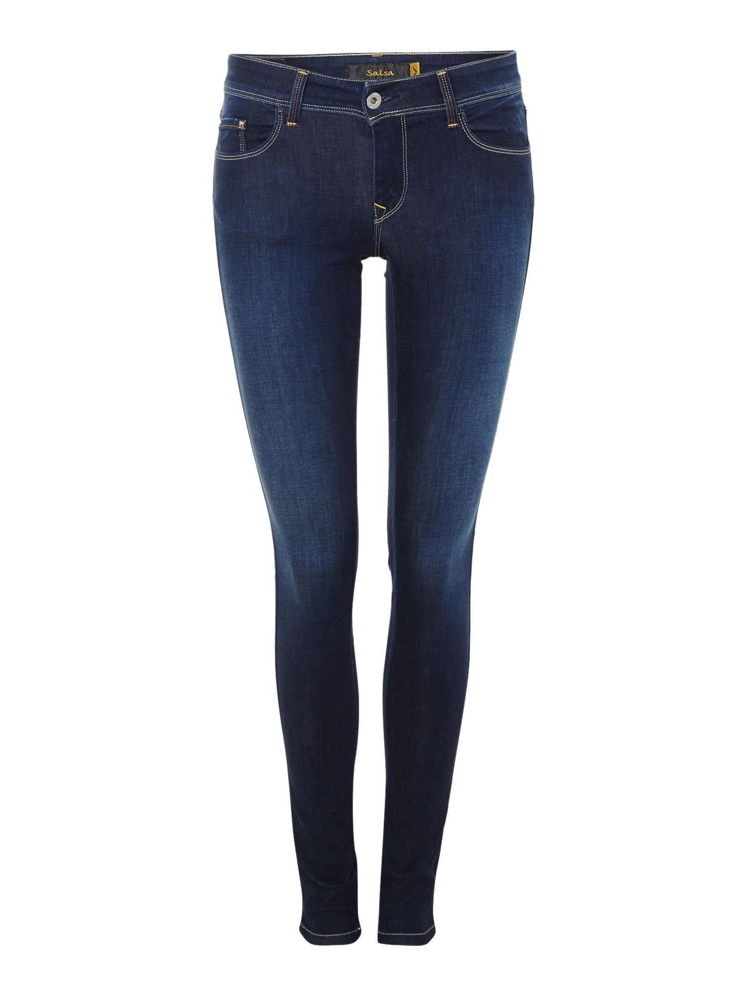 salsa colette skinny soft touch jeans in blue lyst. Black Bedroom Furniture Sets. Home Design Ideas