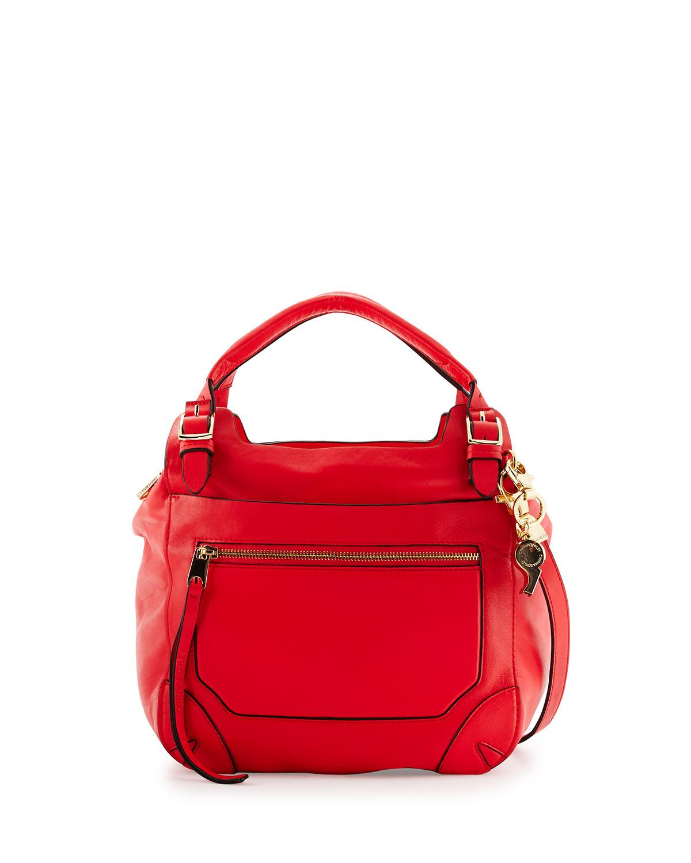 Lyst - Cynthia Rowley Juno Large Leather Satchel Bag in Orange 2c7464398b6cb