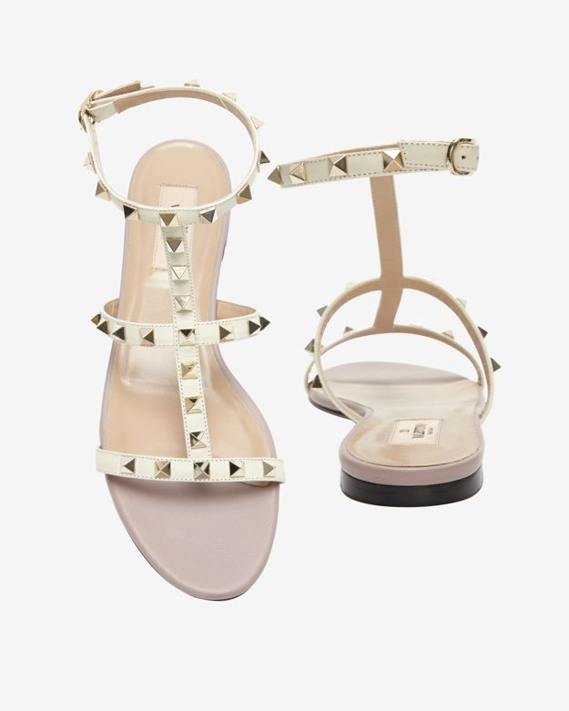 Valentino flat Rockstud sandals with paypal for sale online cheap quality for sale online store buy cheap shopping online mAy6HadAhm