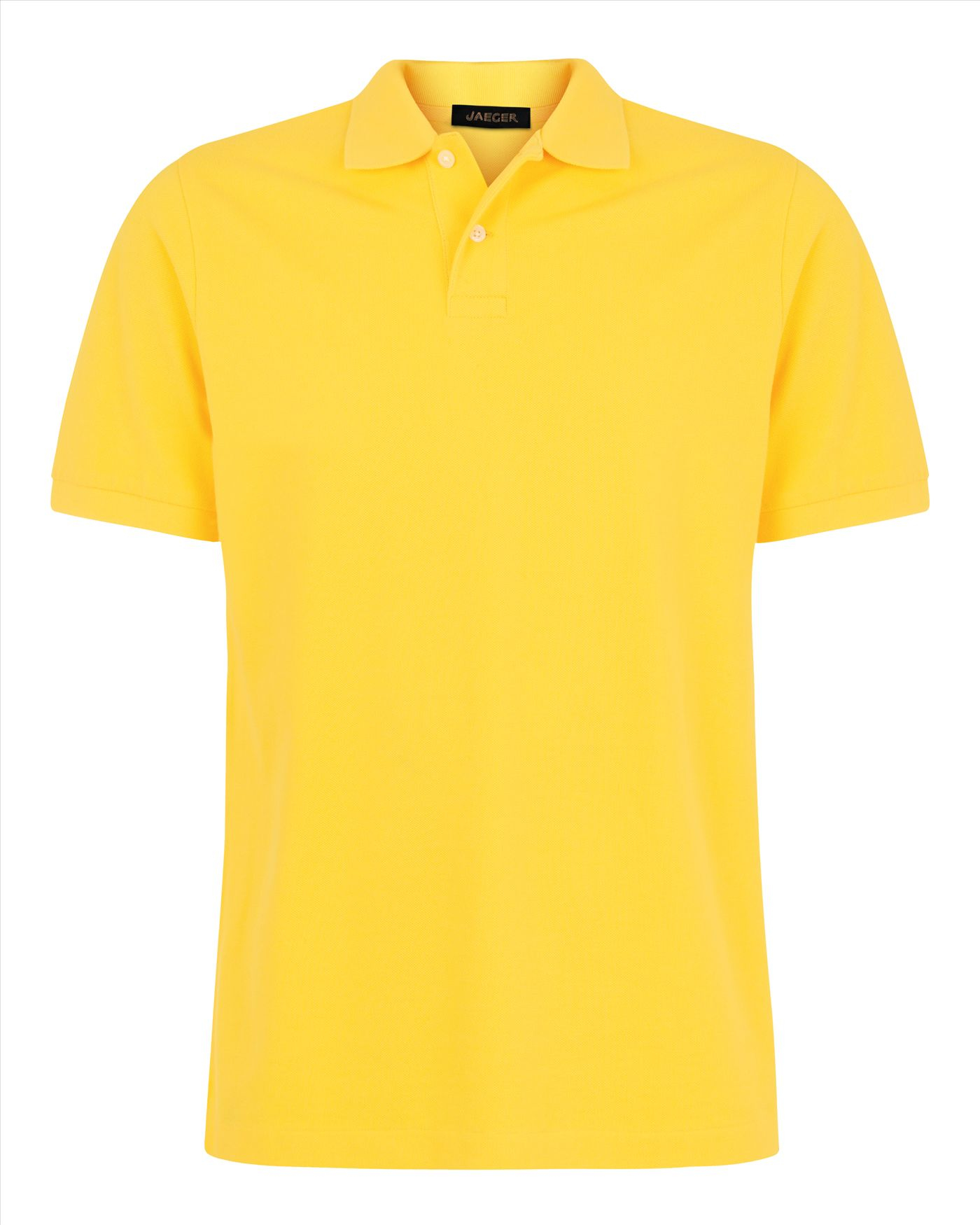 c975fcbc ... where to buy lyst jaeger plain pique polo shirt in yellow for men 4bcec  e6538