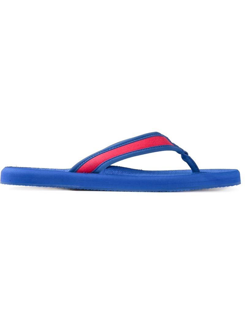 4434b618ba8d Polo Ralph Lauren Almer Flip-Flops in Blue for Men - Lyst