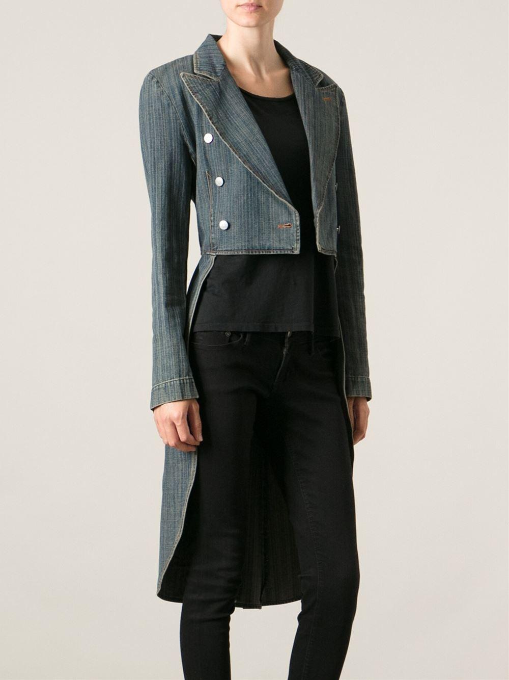 Lyst Jean Paul Gaultier Denim Tail Jacket In Blue