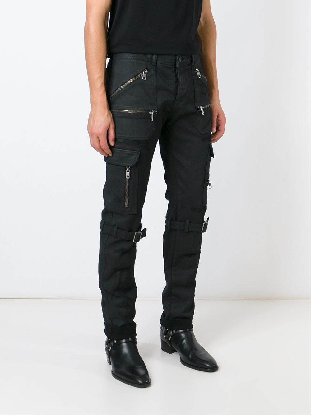 Diesel black gold Slim Cargo Jeans in Black for Men | Lyst