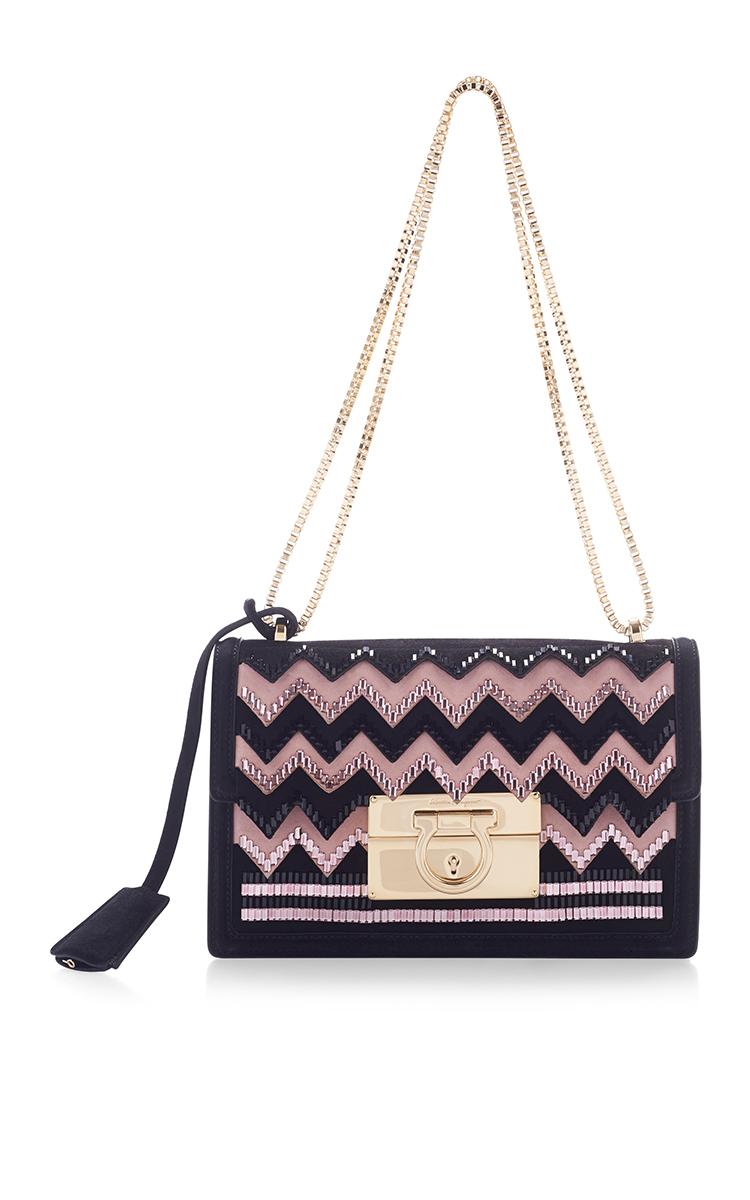 Ferragamo Aileen Shoulder Bag in Black - Lyst eb51b0f157ef8