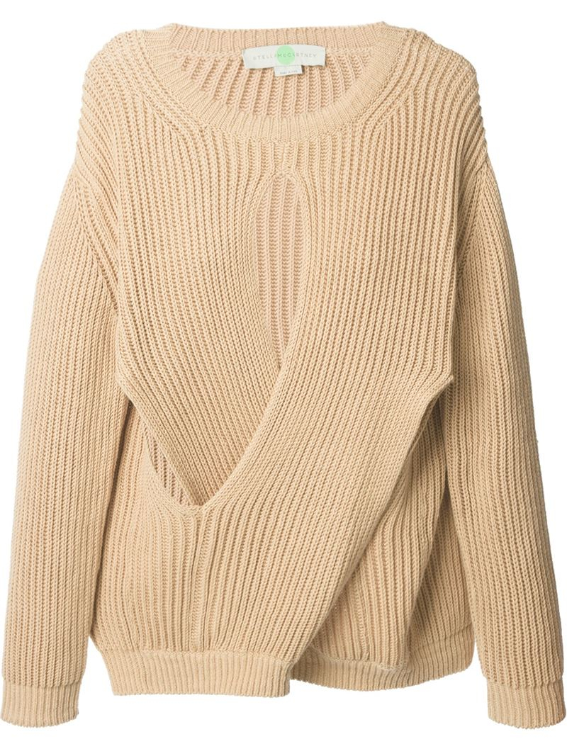 Stella mccartney Ribbed Sweater in Pink | Lyst
