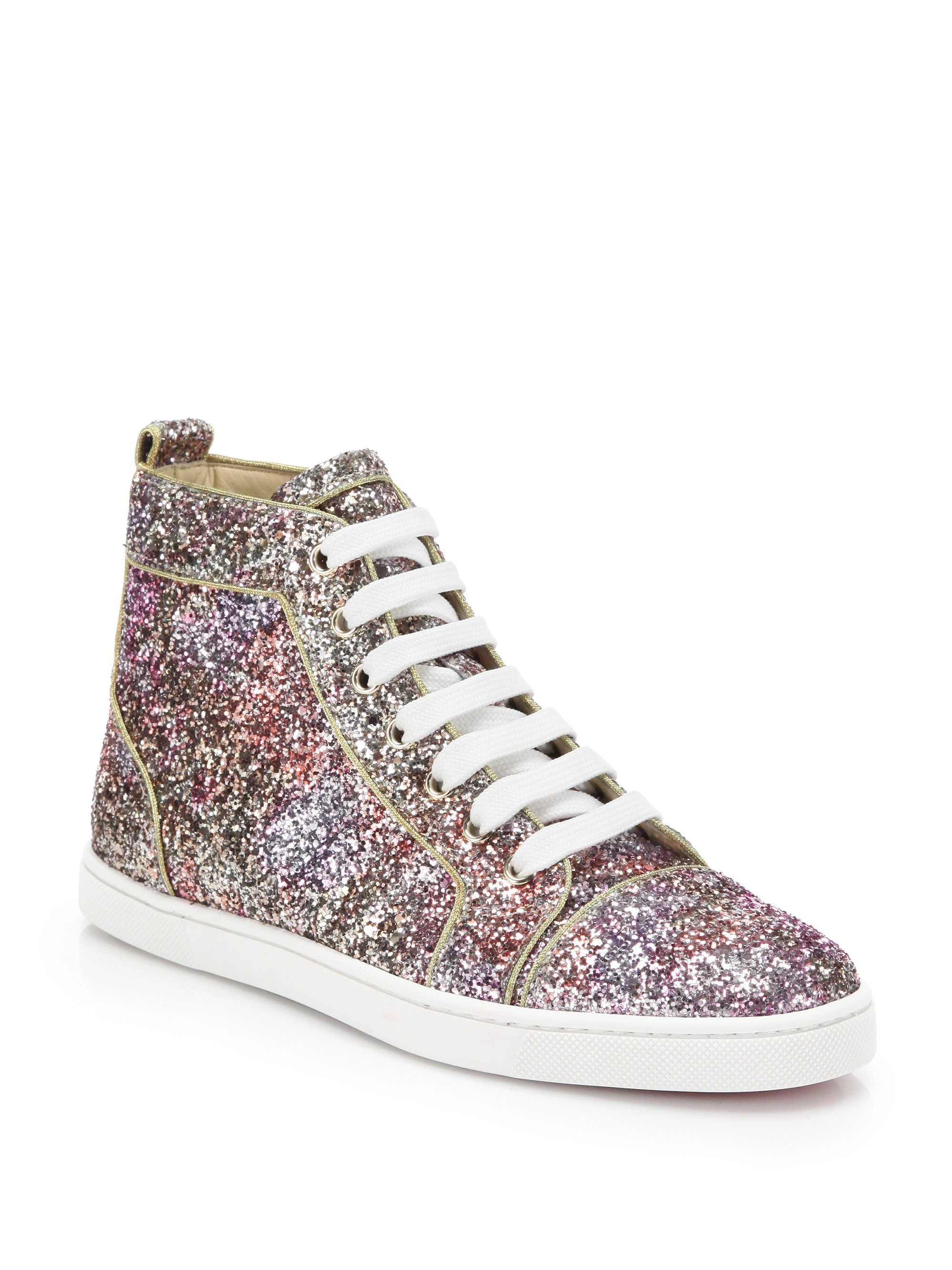 christian louboutin studded patent leather skate sneakers