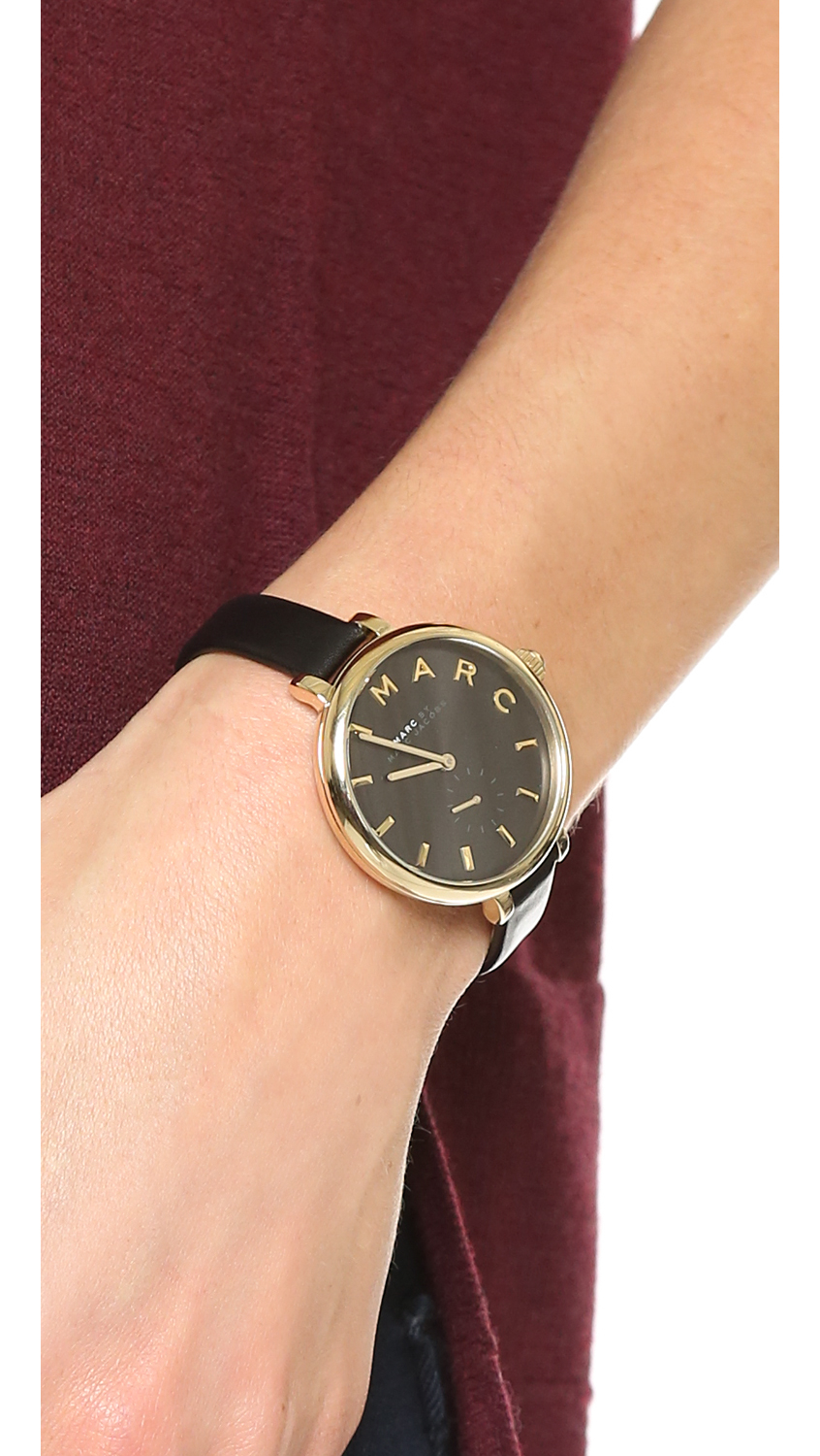 311e027160964 ... Marc by marc jacobs Sally Watch - Gold/black in Black | Lyst Marc Jacobs  ...