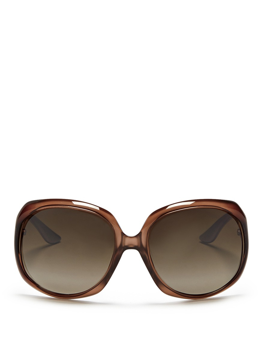 Lyst Dior Contrast Coating Oversized Acetate Sunglasses