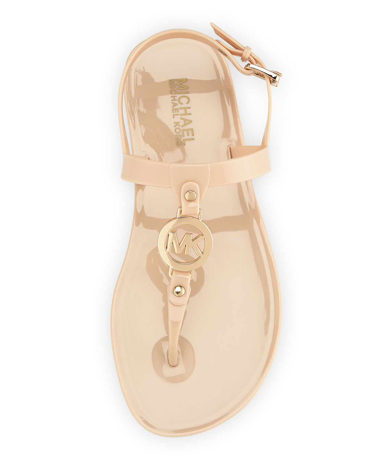 9abf93c454a9e1 Lyst - MICHAEL Michael Kors Sondra Jelly Thong Sandals in Natural