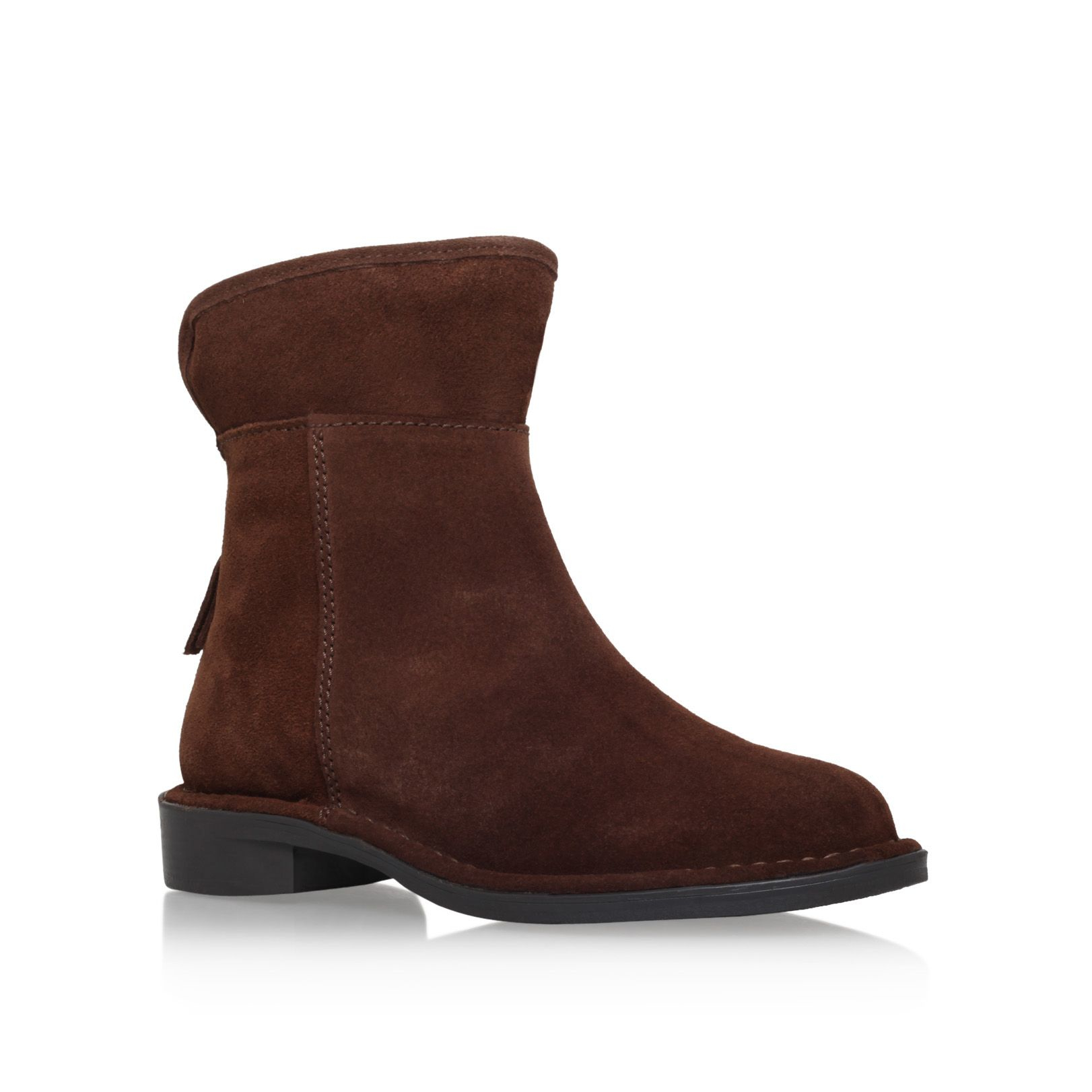 Carvela Kurt Geiger Ted Flat Ankle Boots In Brown | Lyst