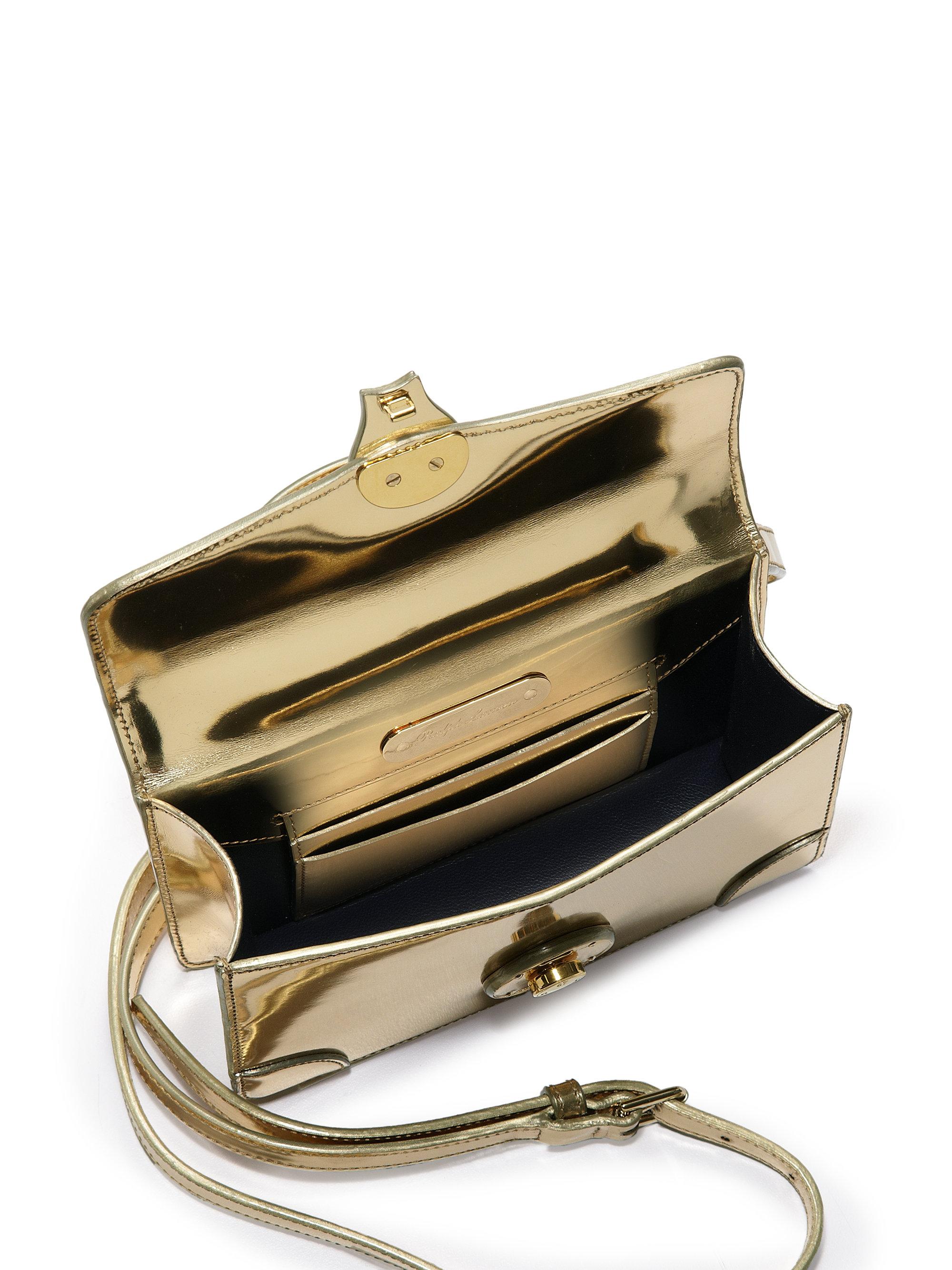 bb299f4aa006 Lyst - Ralph Lauren Collection Ricky Mini Metallic Crossbody Bag in ...